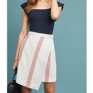 Anthropologie Hutch Rori Red & White Stripe Skirt